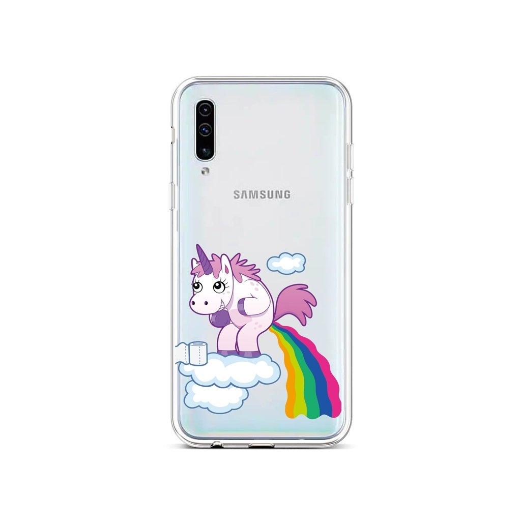 Zadný silikónový kryt na Samsung A50 Rainbow Disaster