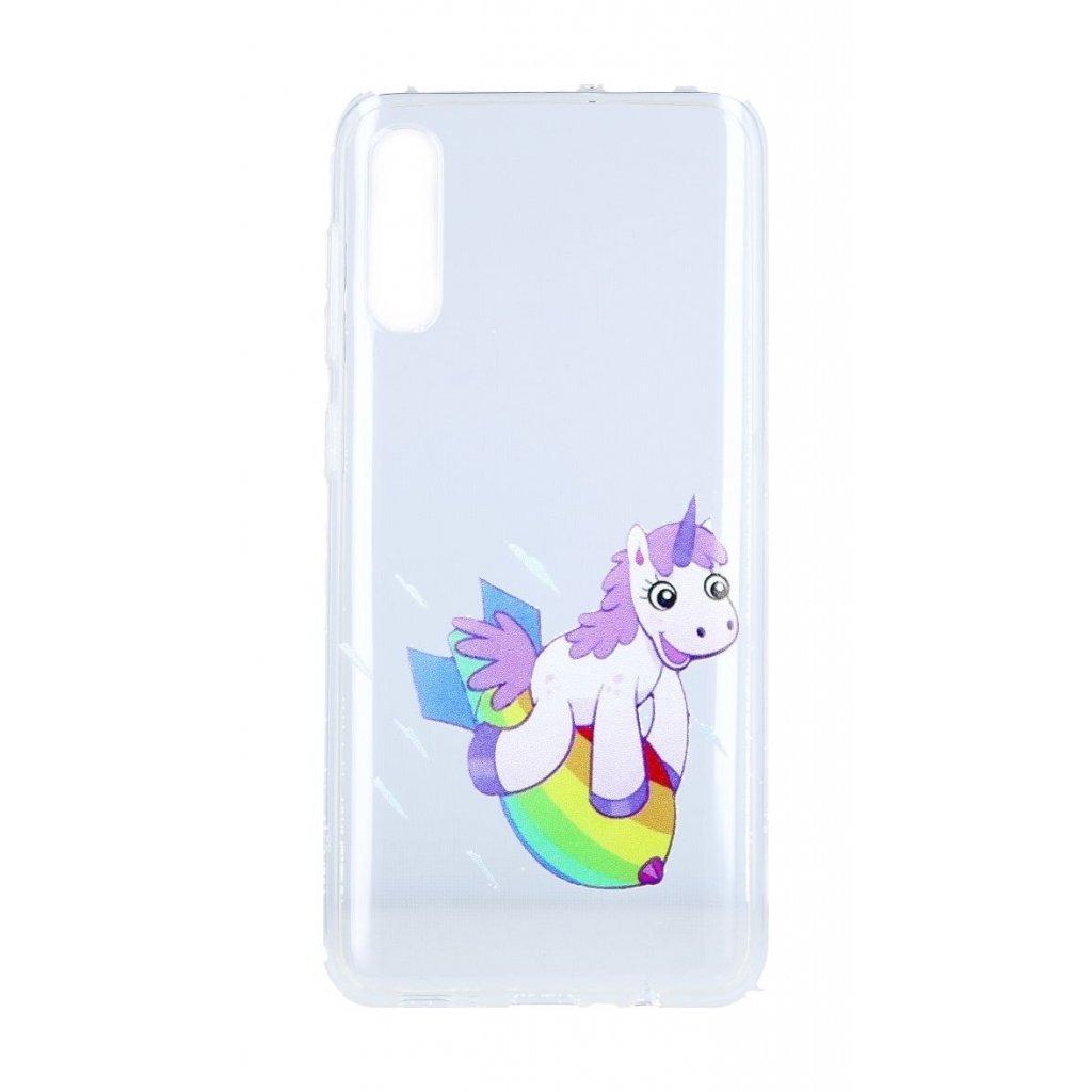Zadný silikónový kryt na Samsung A50 Flying Unicorn