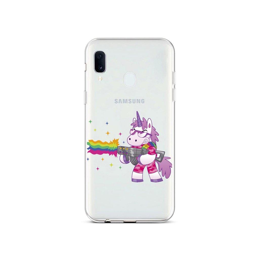 Zadný silikónový kryt na Samsung A40 Rainbow Gun