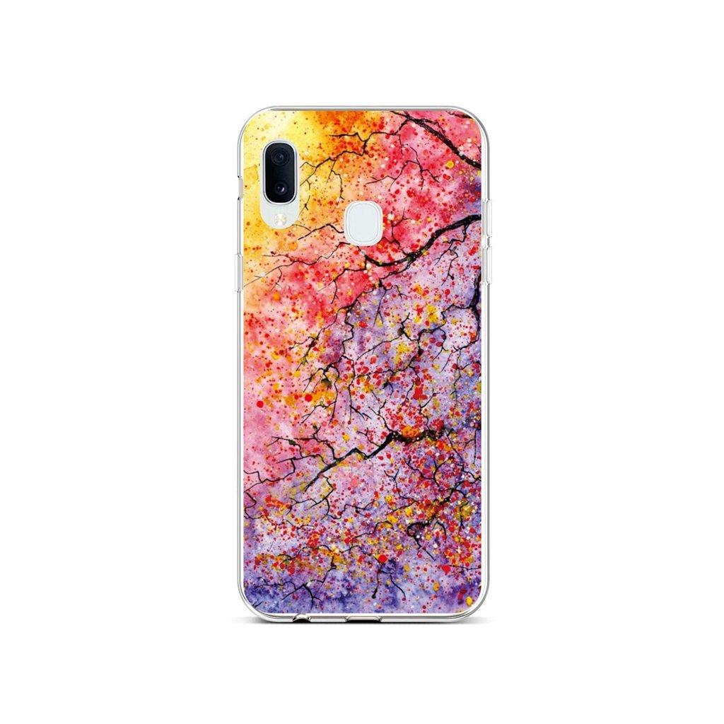 Zadný silikónový kryt na Samsung A20e Abstract Tree