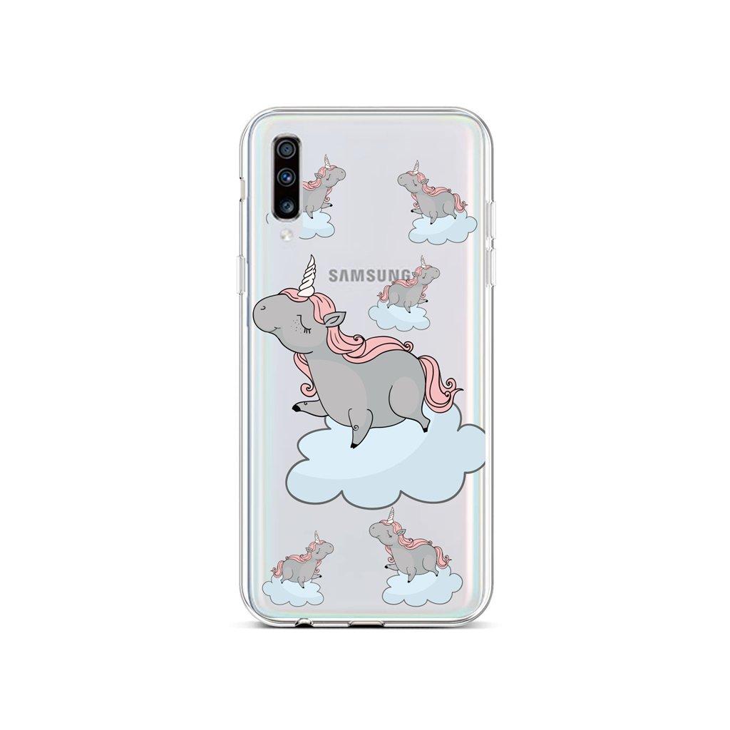 Zadný silikónový kryt na Samsung A70 Grey Unicorns