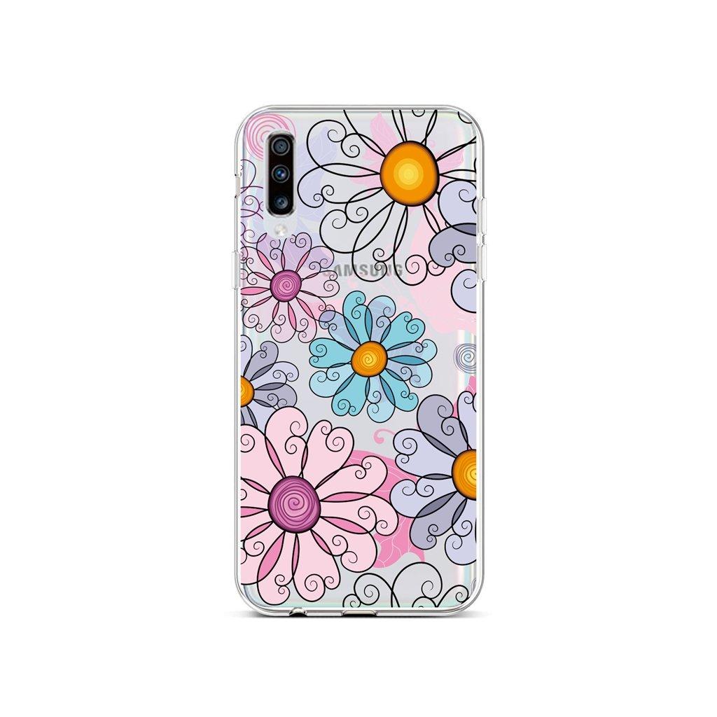 Zadný silikónový kryt na Samsung A70 Colorful Daisy