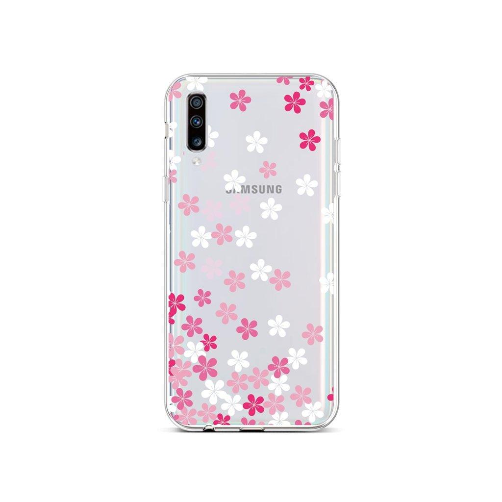 Zadný silikónový kryt na Samsung A70 Pink Blossom