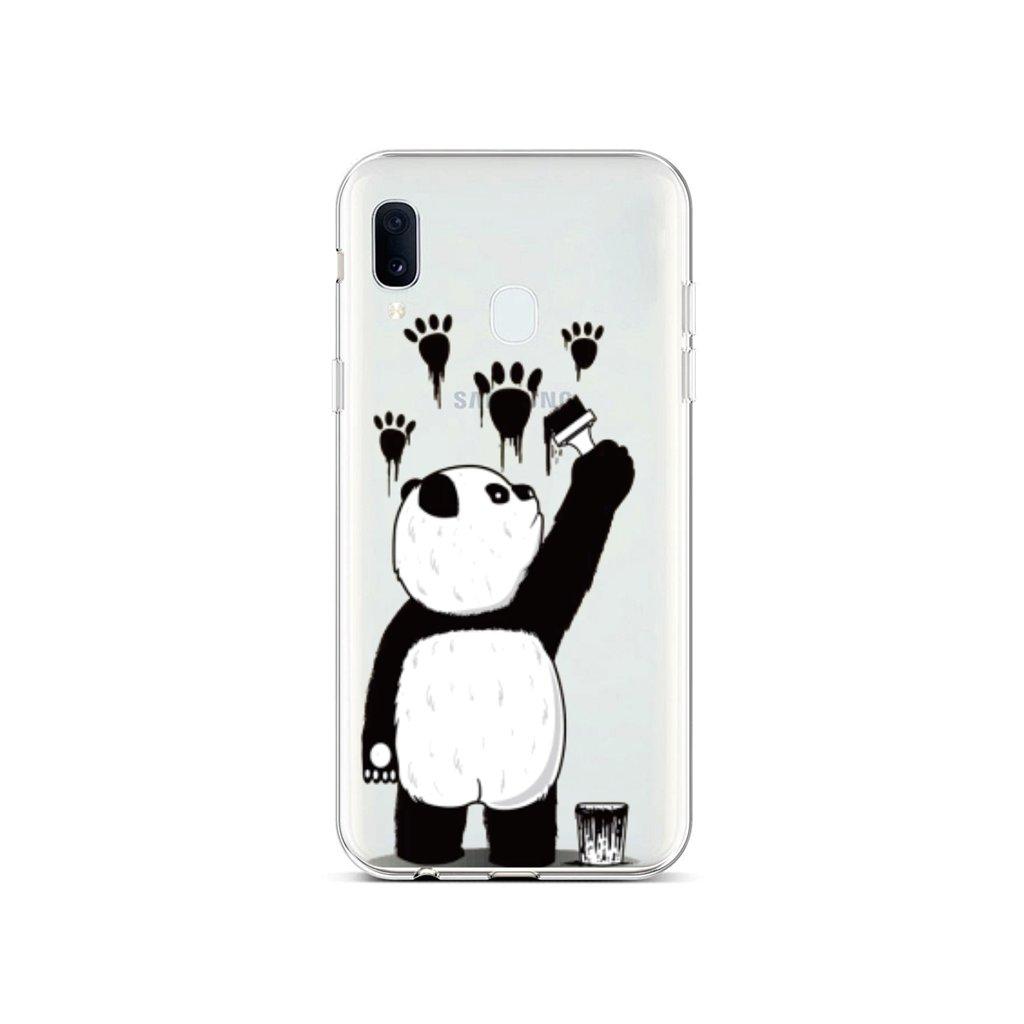 Zadný silikónový kryt na Samsung A20e Rebel Panda