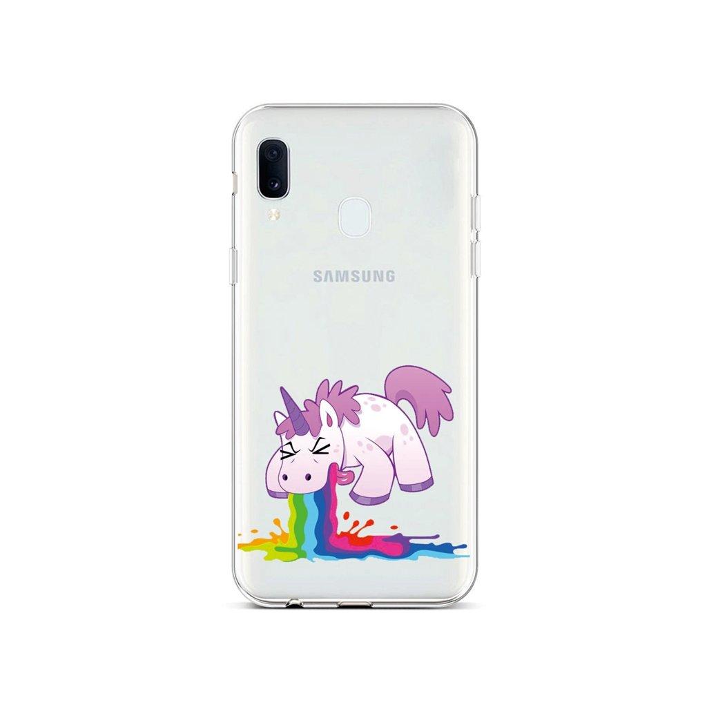 Zadný silikónový kryt na Samsung A20e Rainbow Splash