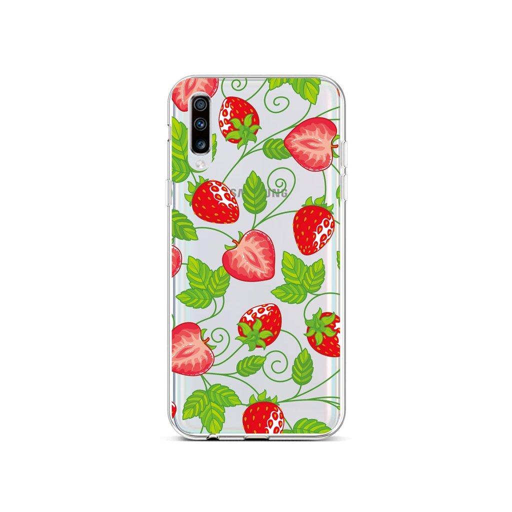 Zadný silikónový kryt na Samsung A70 Strawberries