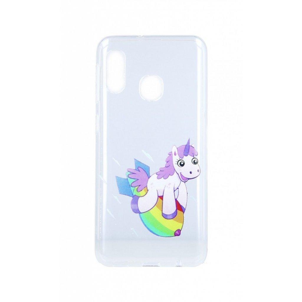 Zadný silikónový kryt na Samsung A20e Flying Unicorn