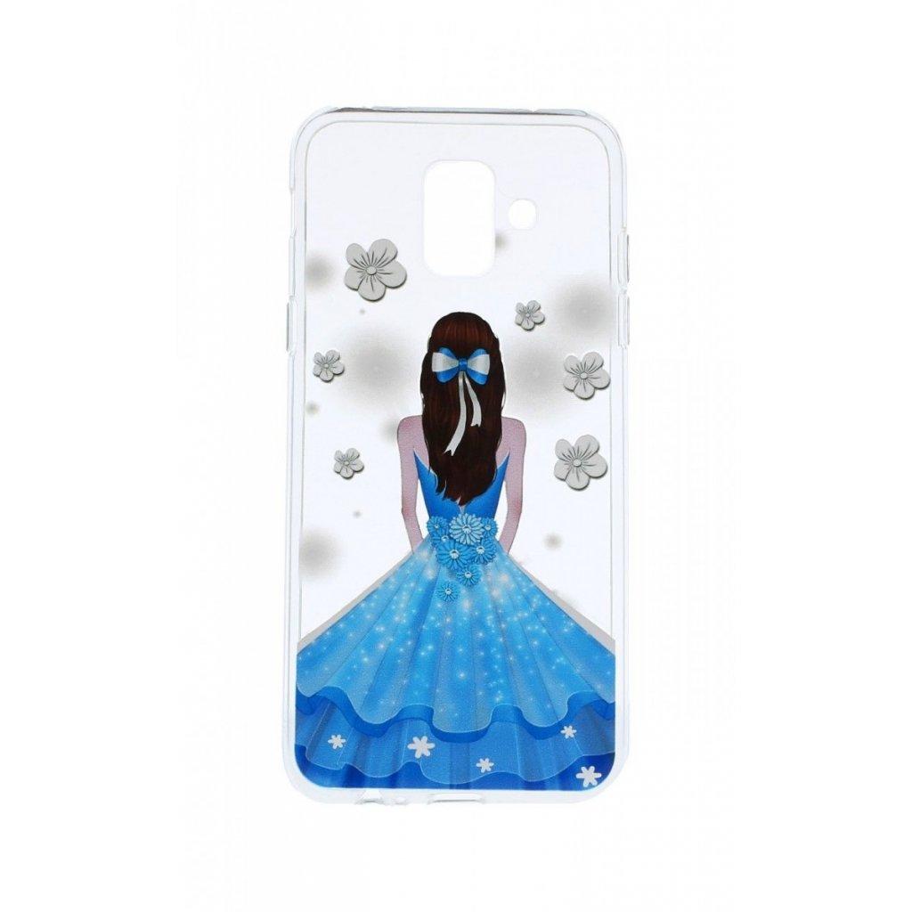 Zadný silikónový kryt na Samsung A6 Blue Princess