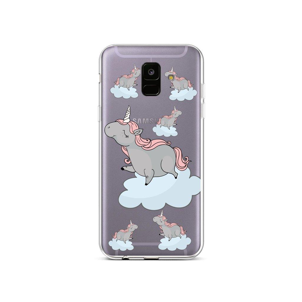 Zadný silikónový kryt na Samsung A6 Grey Unicorns