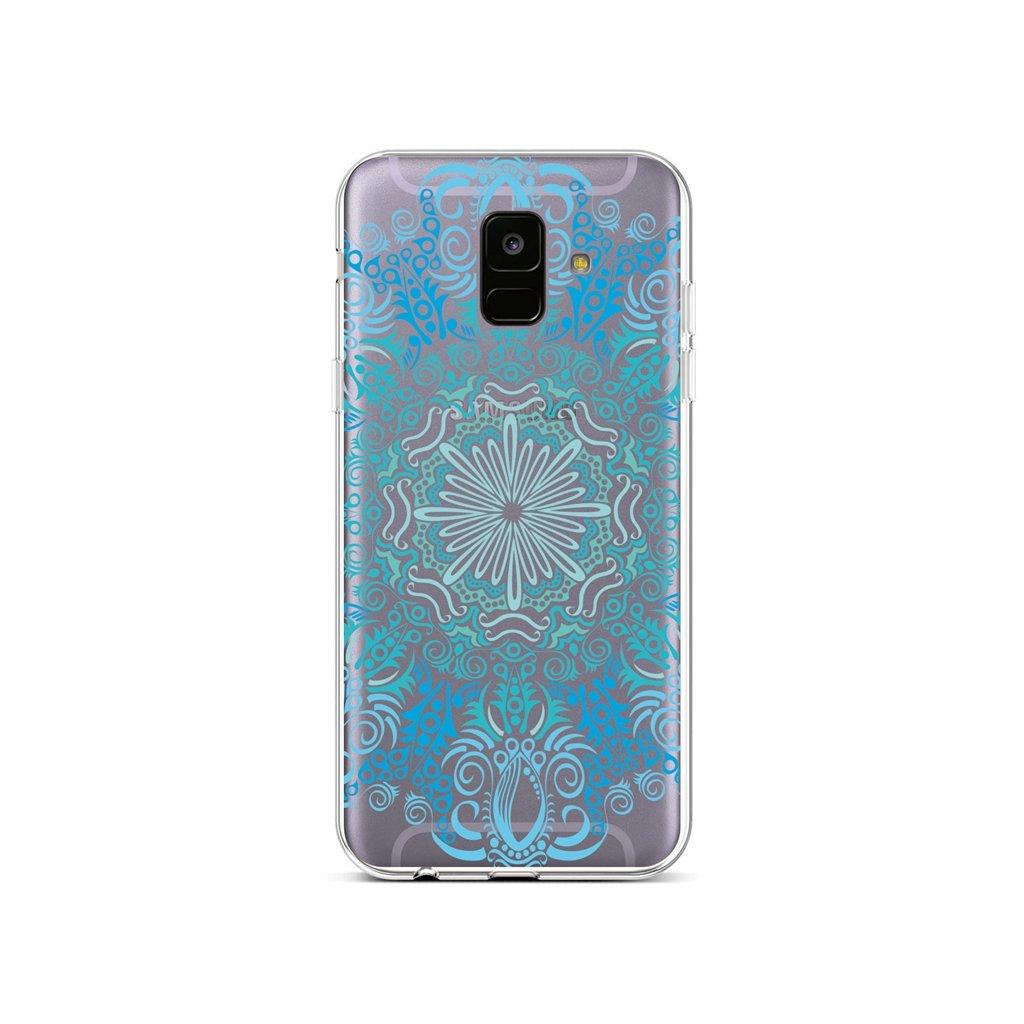 Zadný silikónový kryt na Samsung A6 Blue Mandala