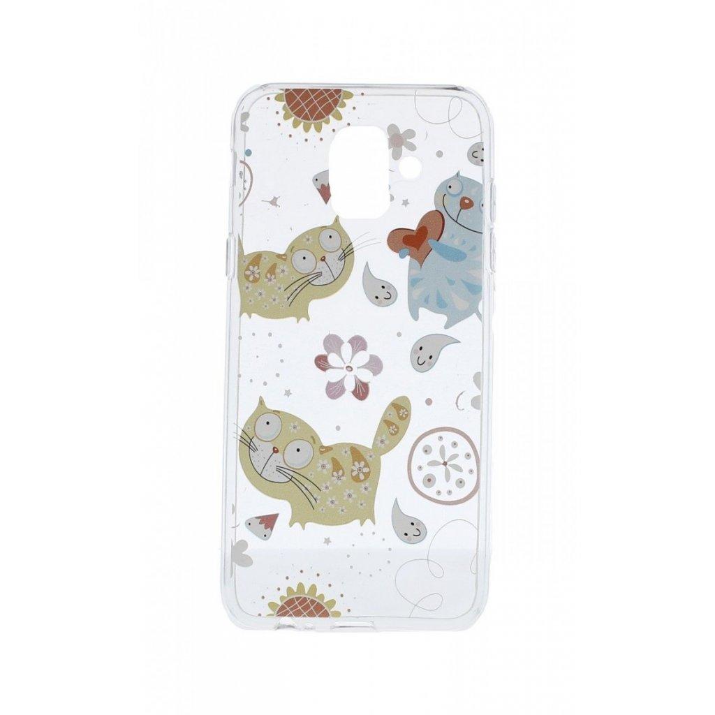 Zadný silikónový kryt na Samsung A6 Happy Cats