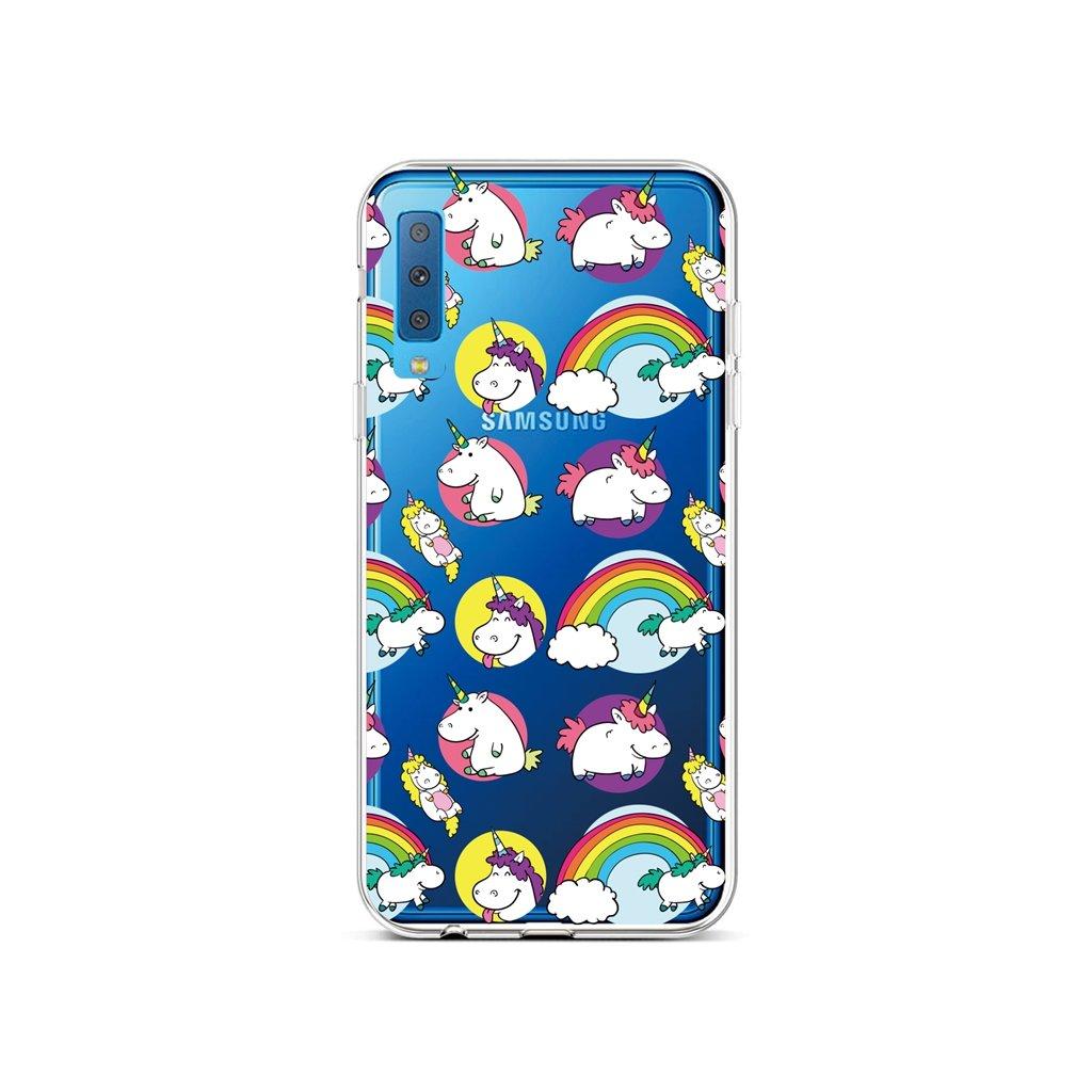 Zadný silikónový kryt na Samsung A7 Chunky Unicorns