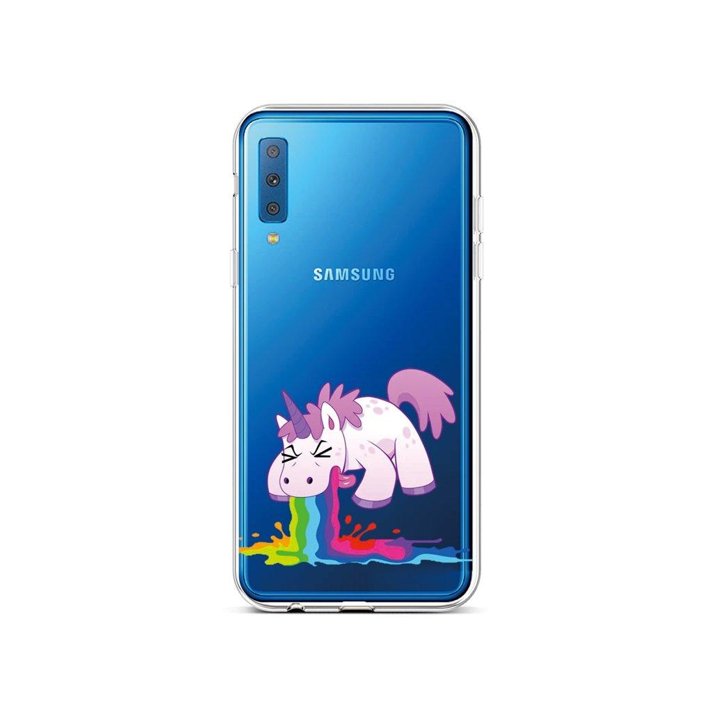 Zadný silikónový kryt na Samsung A7 Rainbow Splash