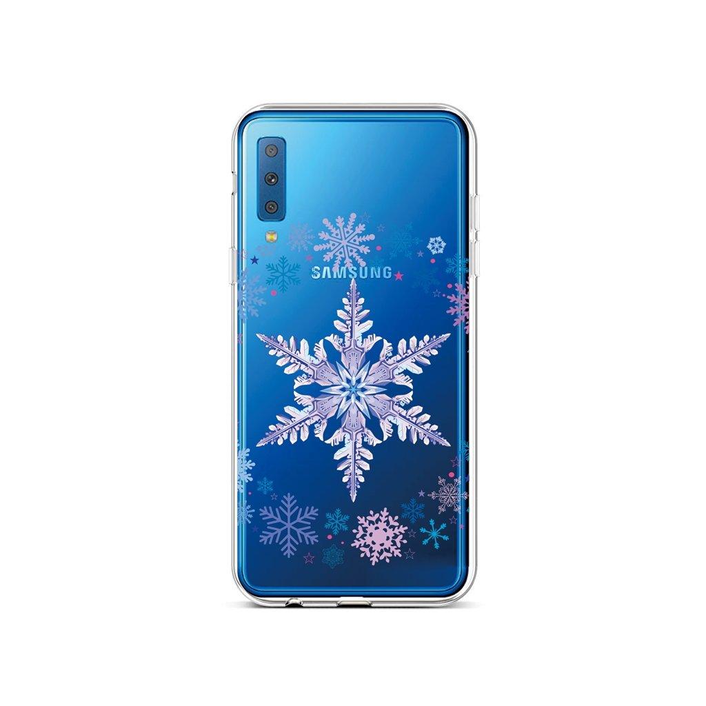 Zadný silikónový kryt na Samsung A7 Snowflake