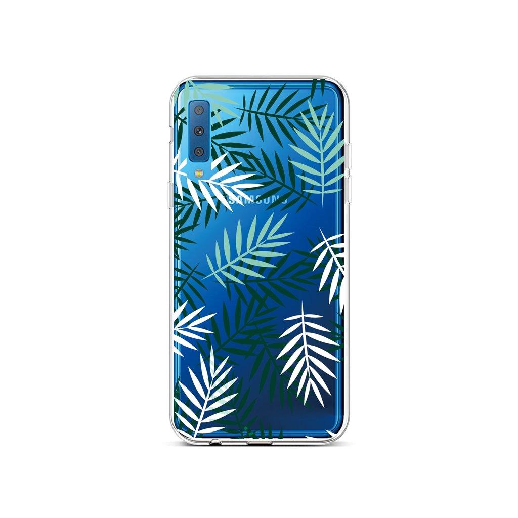 Zadný silikónový kryt na Samsung A7 Listy