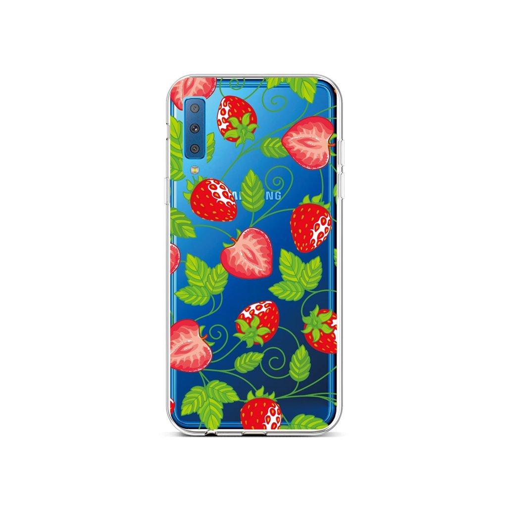 Zadný silikónový kryt na Samsung A7 Strawberries