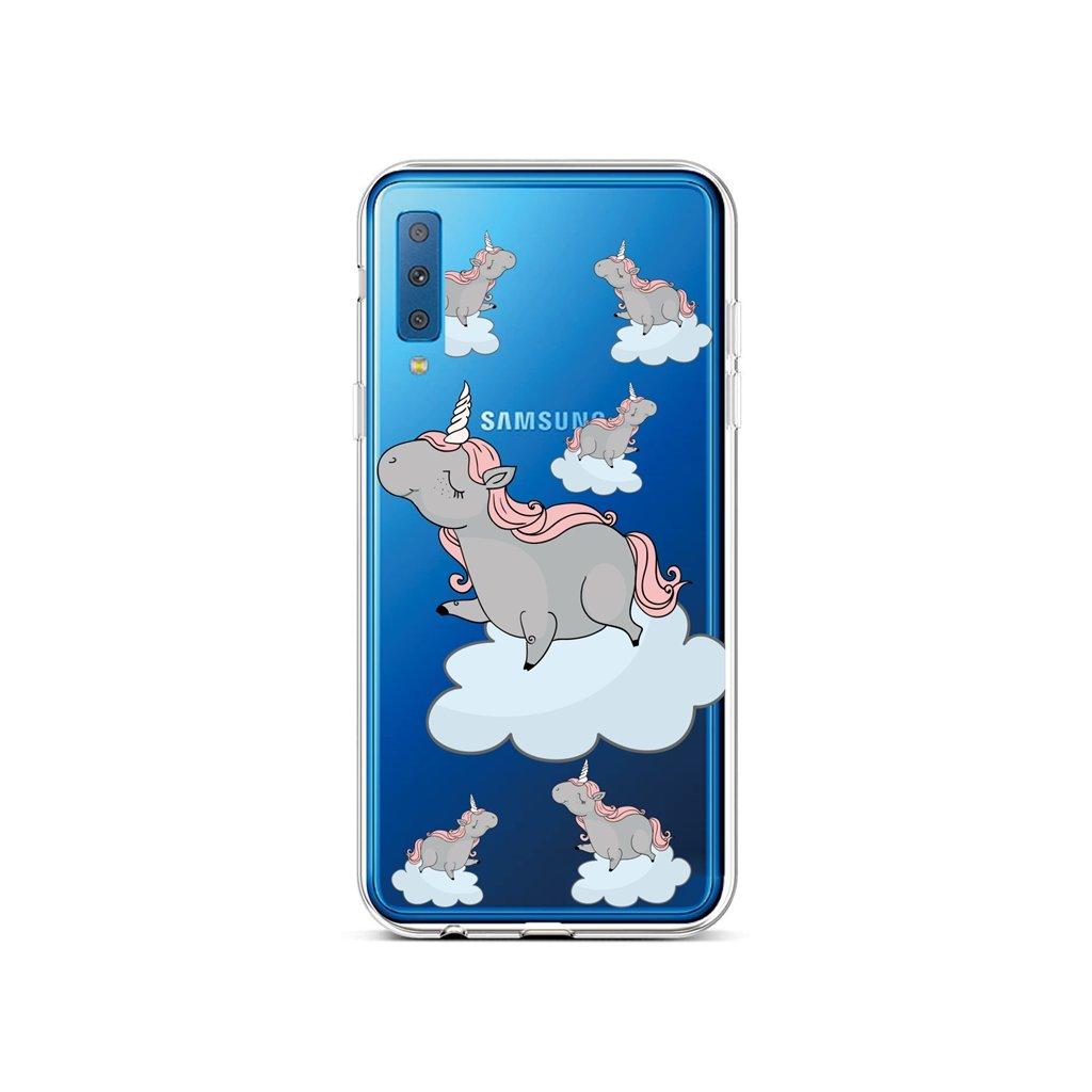 Zadný silikónový kryt na Samsung A7 Grey Unicorns