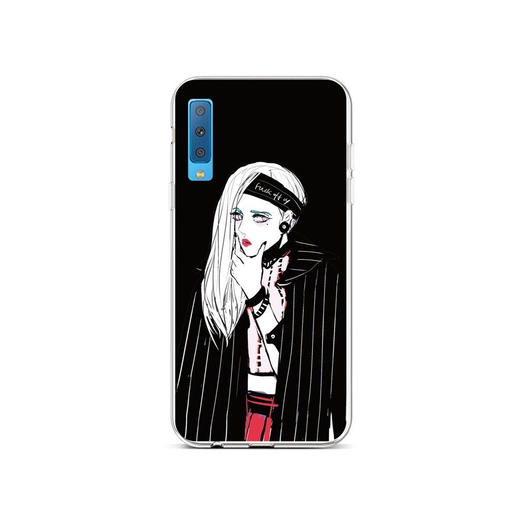 Zadný silikónový kryt na Samsung A7 Dark Girl