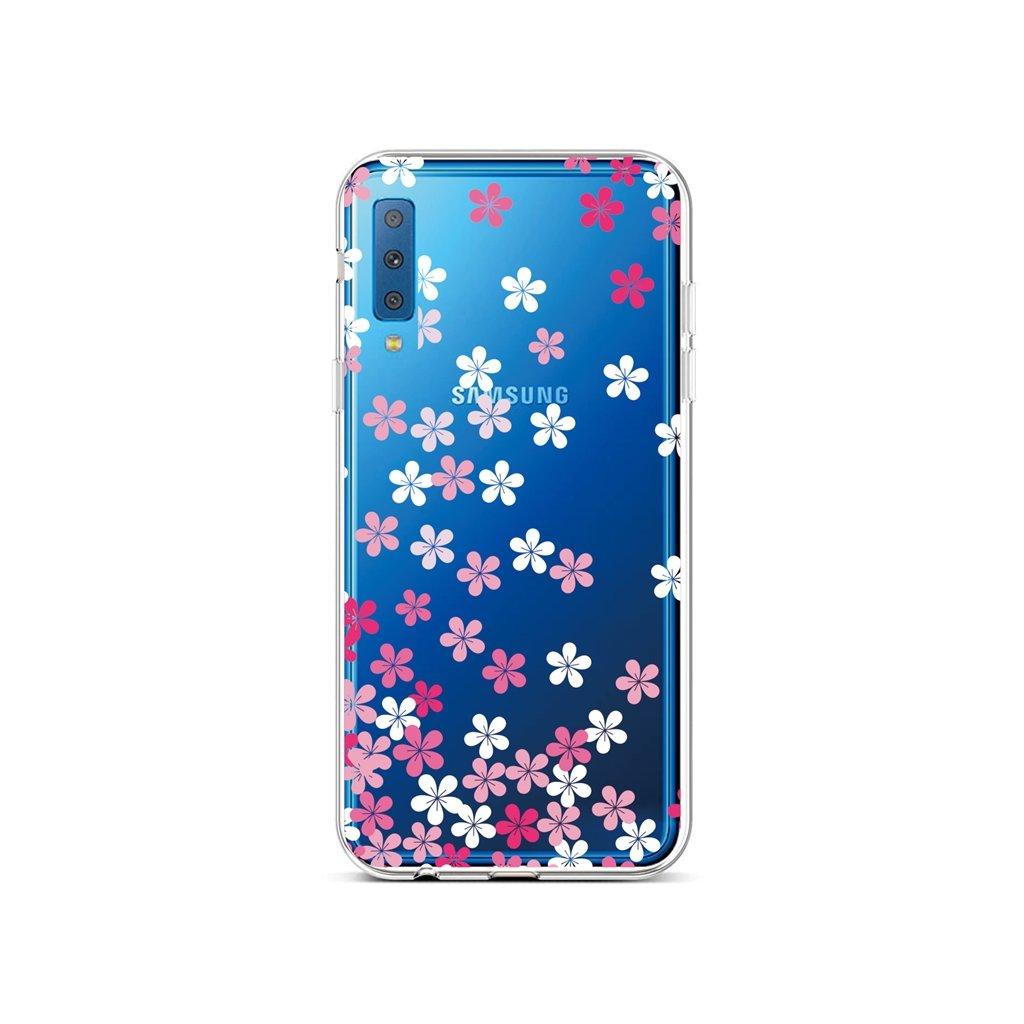 Zadný silikónový kryt na Samsung A7 Pink Blossom