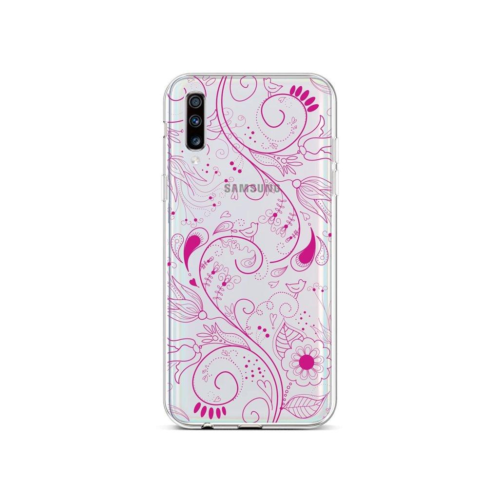 Zadný silikónový kryt na Samsung A70 Pink Ornament
