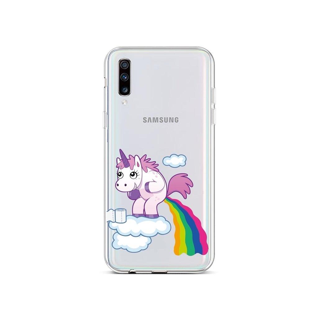 Zadný silikónový kryt na Samsung A70 Rainbow Disaster