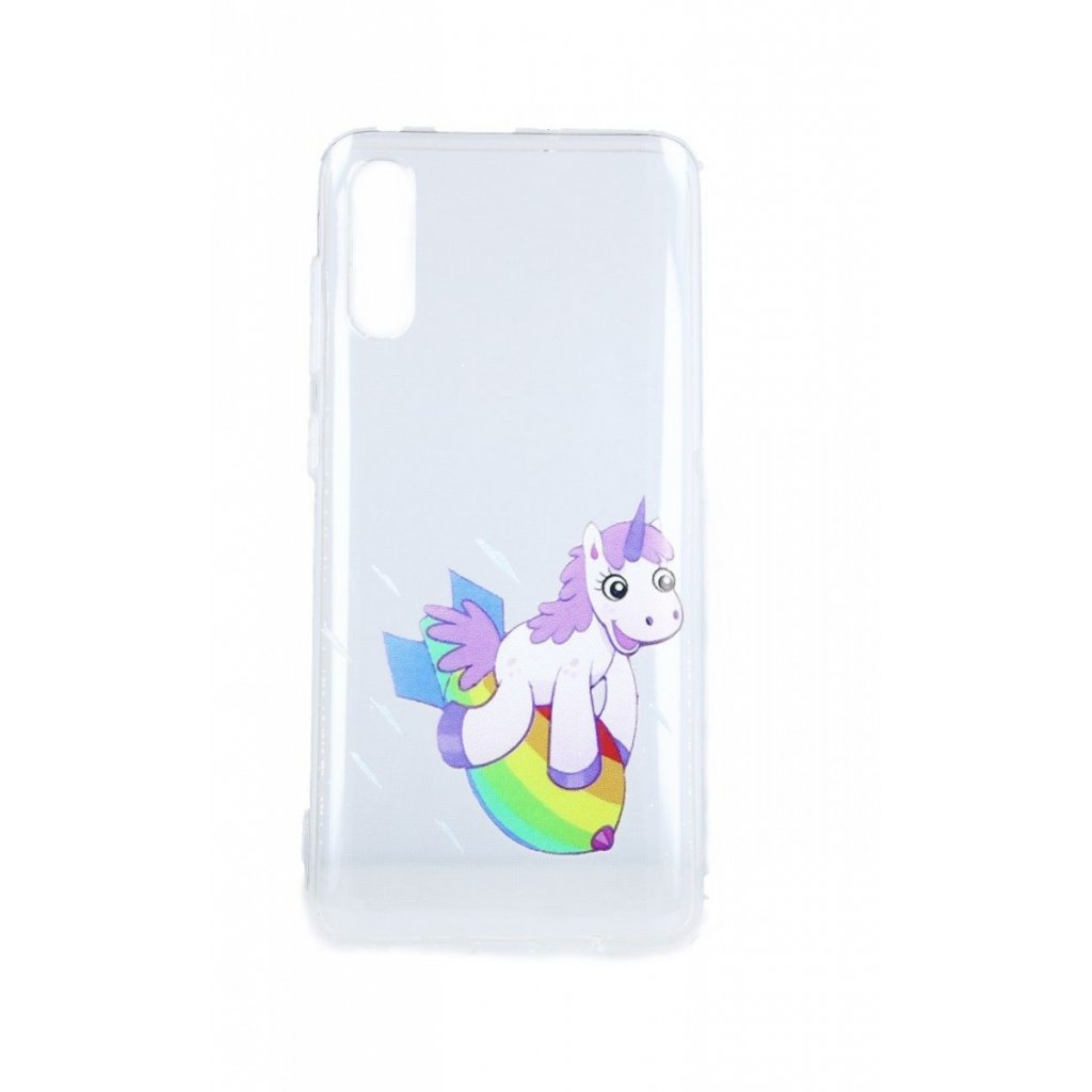 Zadný silikónový kryt na Samsung A70 Flying Unicorn