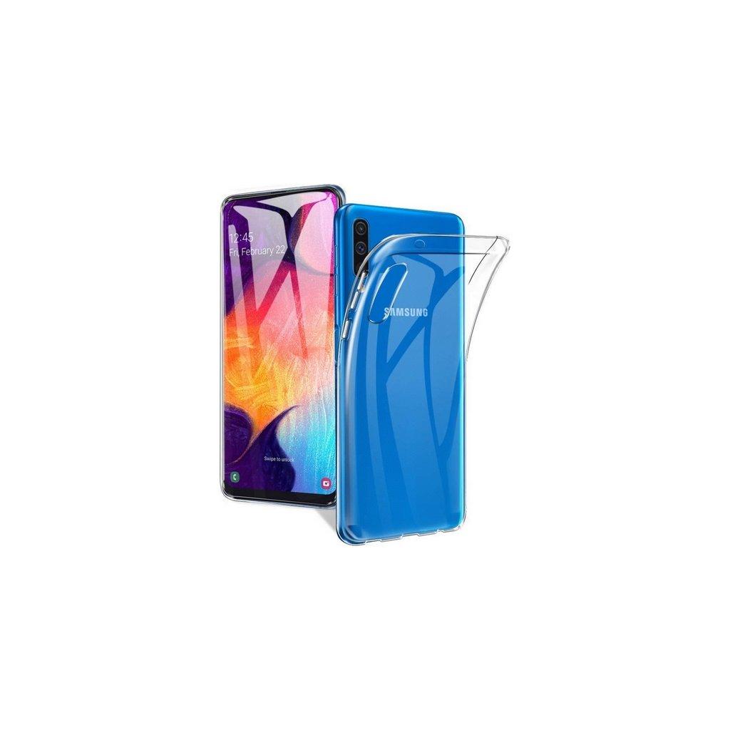 Ultratenký silikónový kryt na Samsung A50 0,5 mm priehľadný