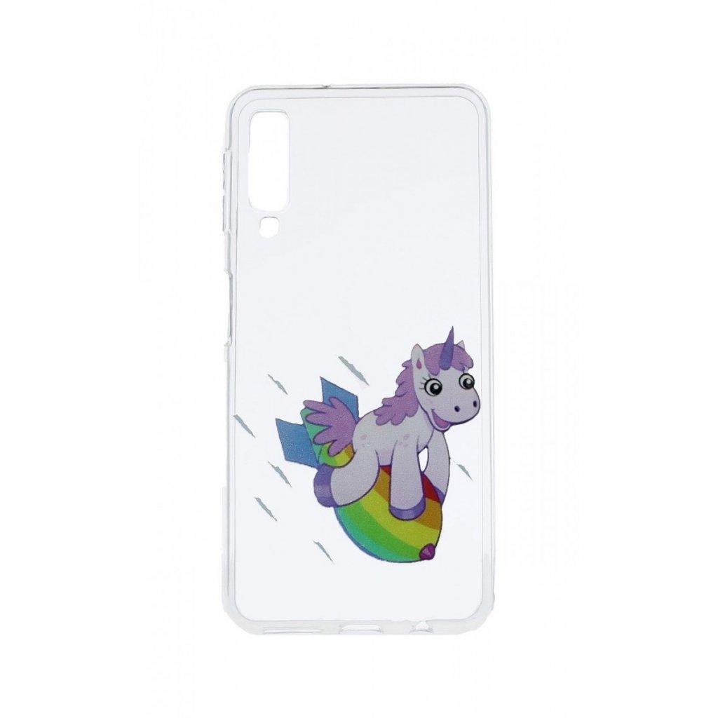 Zadný silikónový kryt na Samsung A7 Flying Unicorn