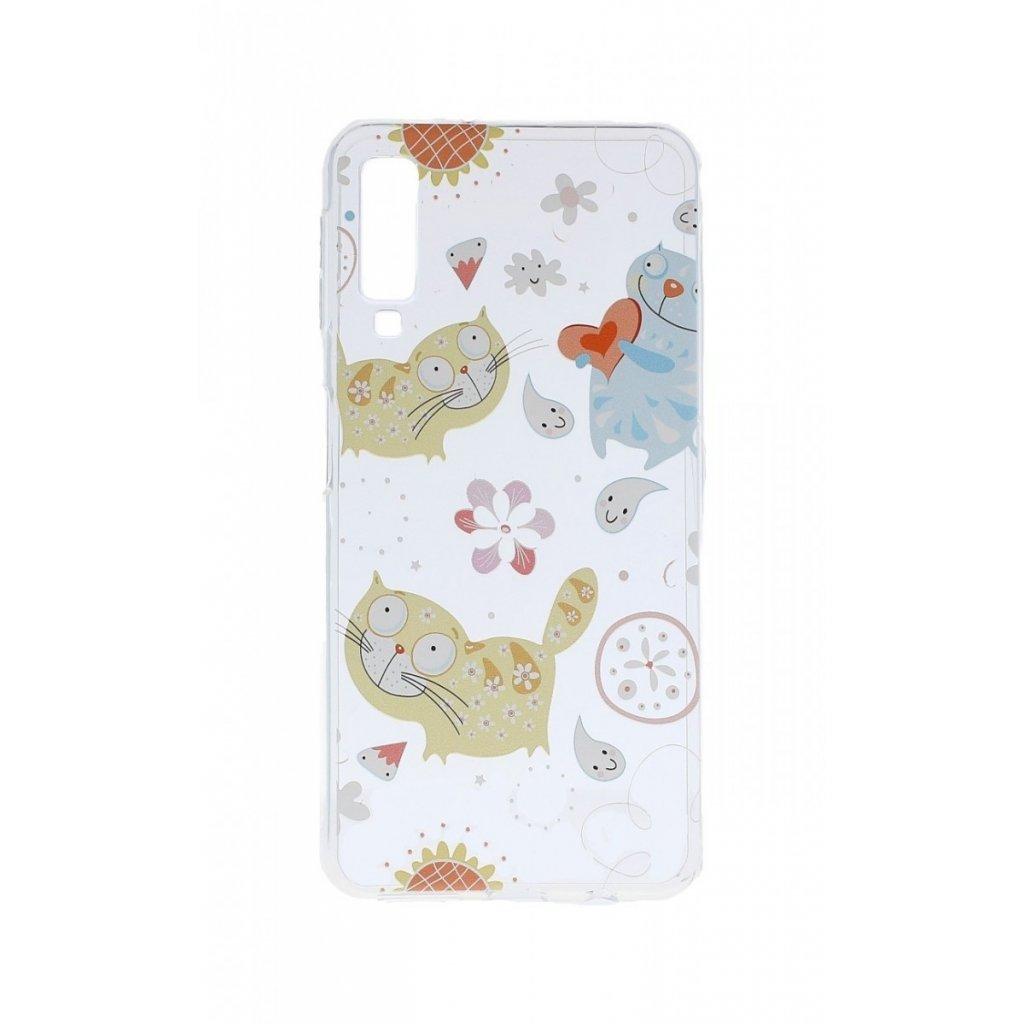 Zadný silikónový kryt na Samsung A7 Happy Cats