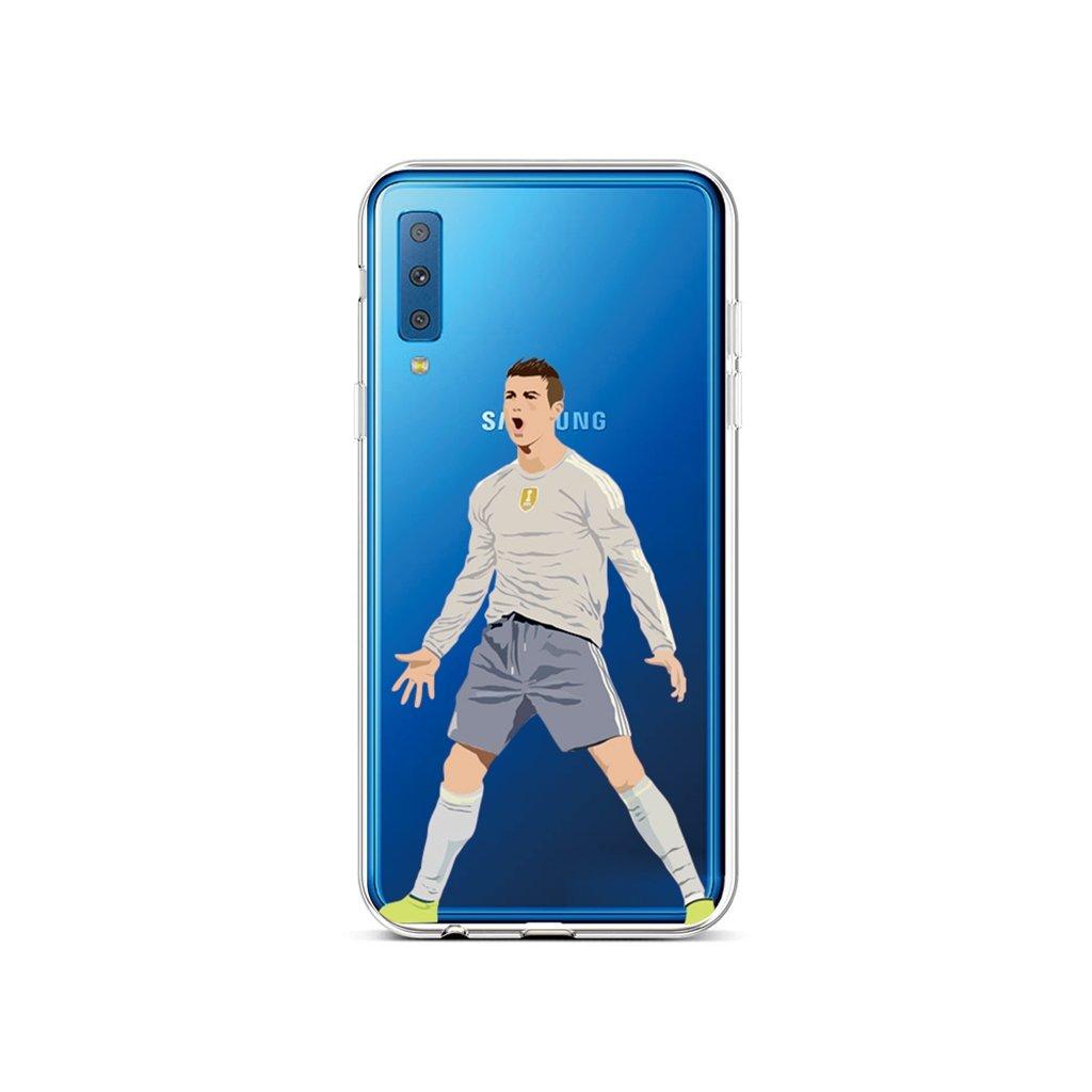 Zadný silikónový kryt na Samsung A7 Futbalista