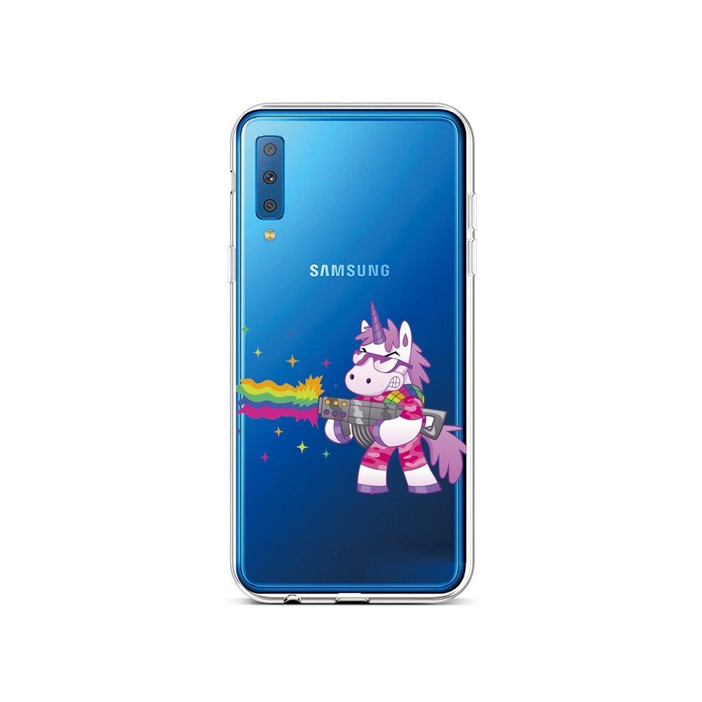 Zadný silikónový kryt na Samsung A7 Rainbow Gun