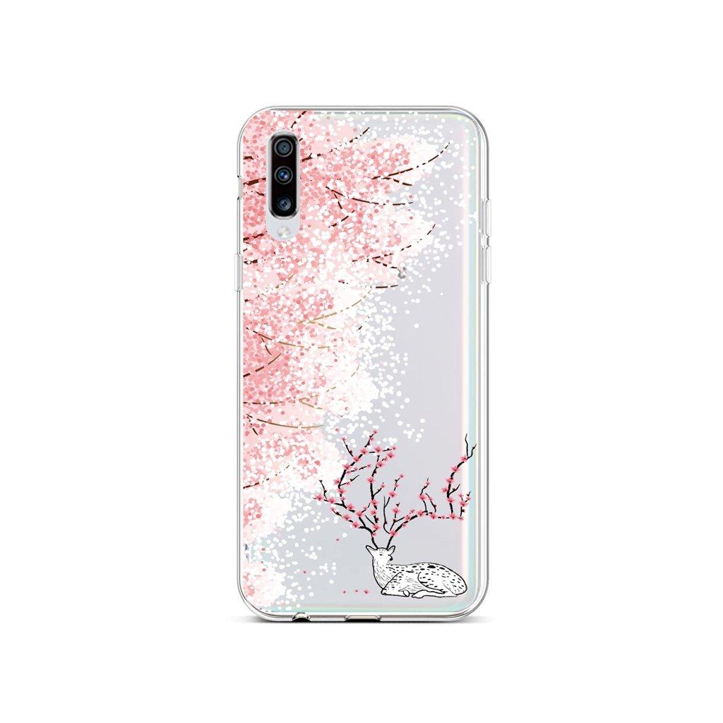 Zadný silikónový kryt na Samsung A70 Blooming Deer