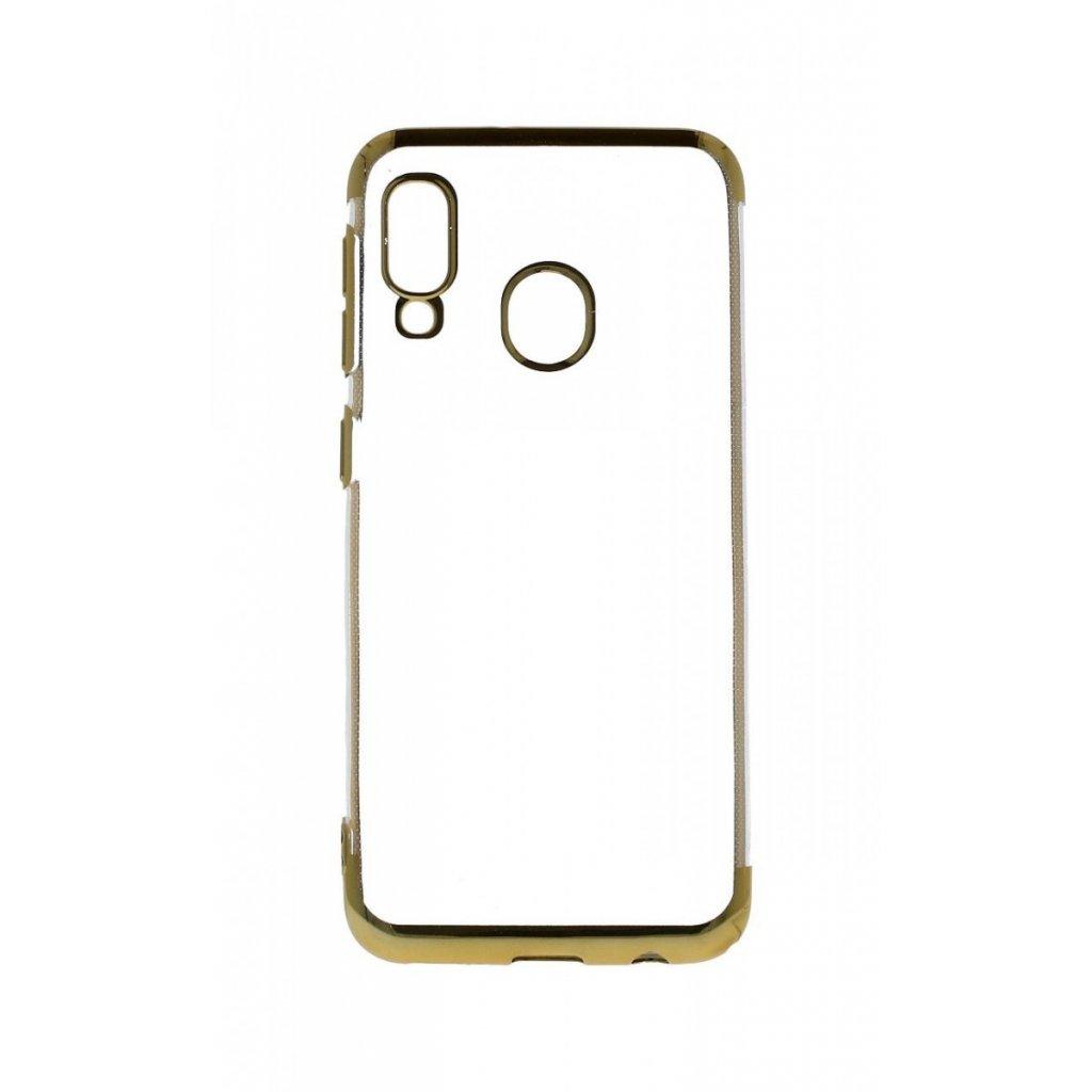 Zadný silikónový kryt na Samsung A20e Frame zlatý