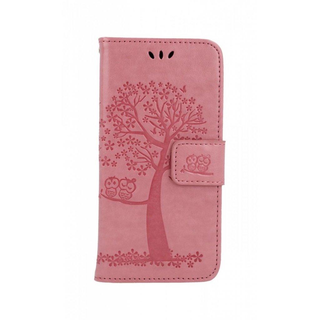 Flipové puzdro na Samsung A20e Ružový strom sovičky