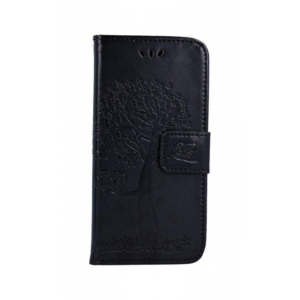 Flipové puzdro na Samsung A20e Čierny strom sovičky