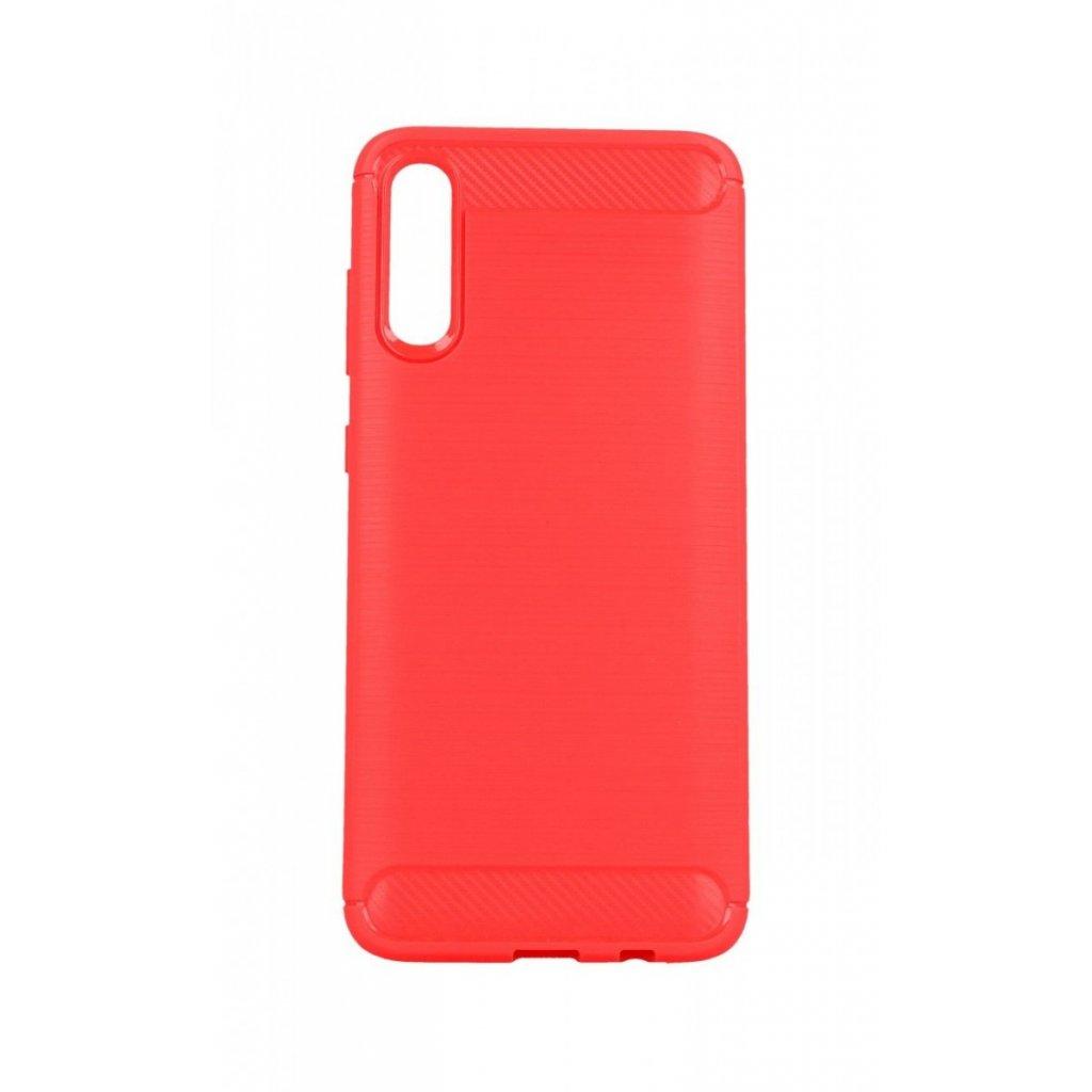 Zadný silikónový kryt na Samsung A70 červený