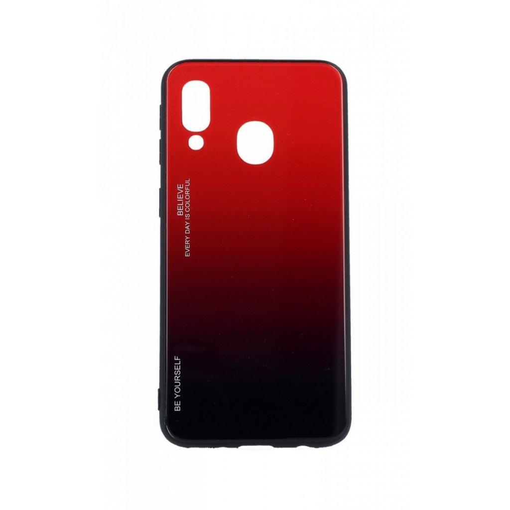 Zadný pevný kryt LUXURY na Samsung A40 dúhový červený
