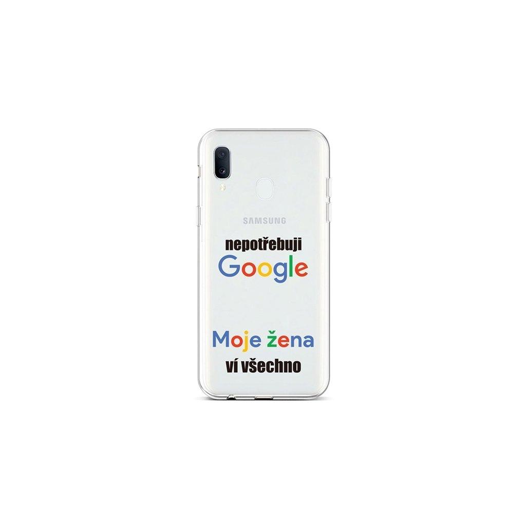 Zadný silikónový kryt na Samsung A20e Google