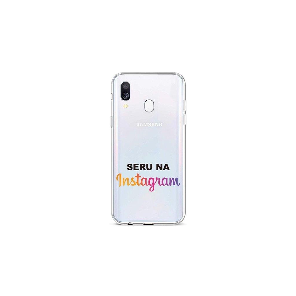 Zadný silikónový kryt na Samsung A40 Instagram