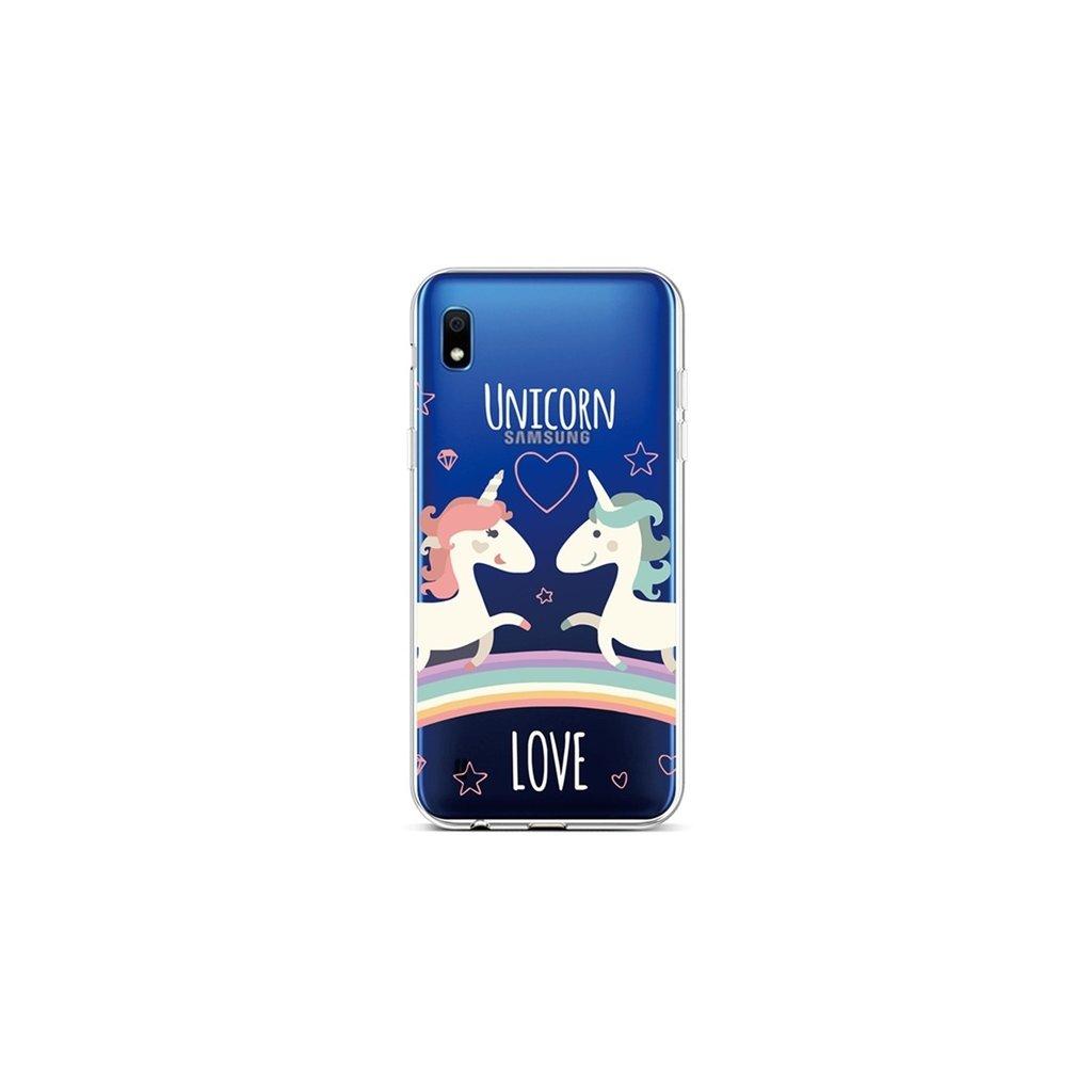 Zadný silikónový kryt na Samsung A10 Unicorn Love