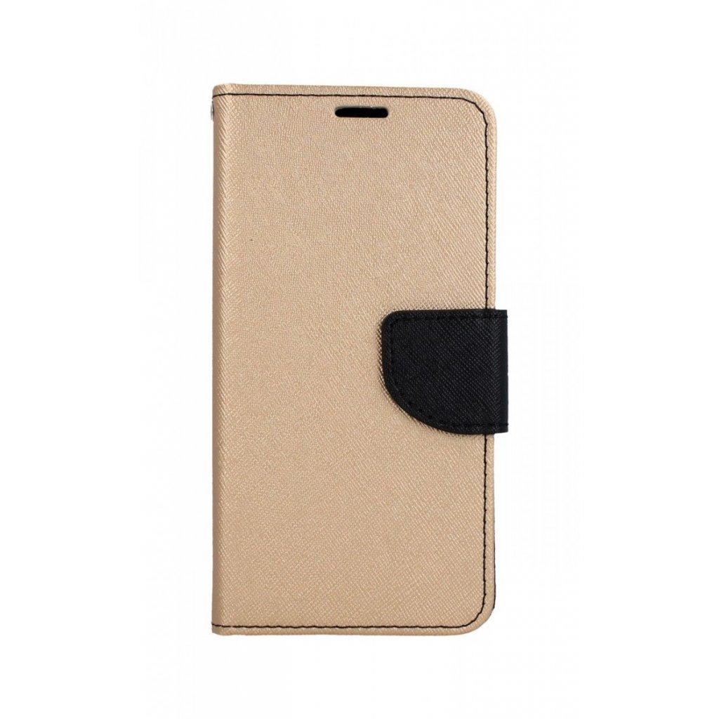 Flipové puzdro na Samsung A20e čierno-zlaté