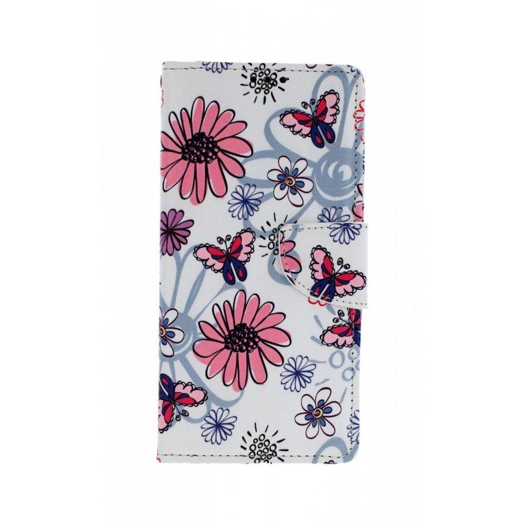 Flipové puzdro na Samsung A70 Flowers