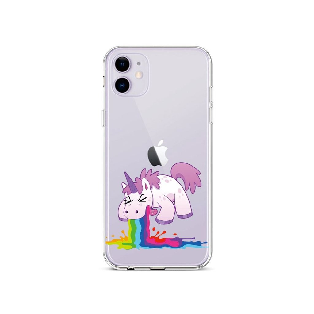 Zadný silikónový kryt na iPhone 11 Rainbow Splash