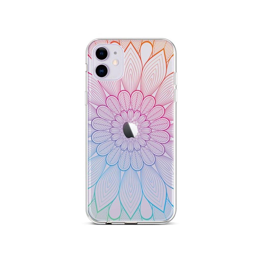 Zadný silikónový kryt na iPhone 11 Rainbow Mandala