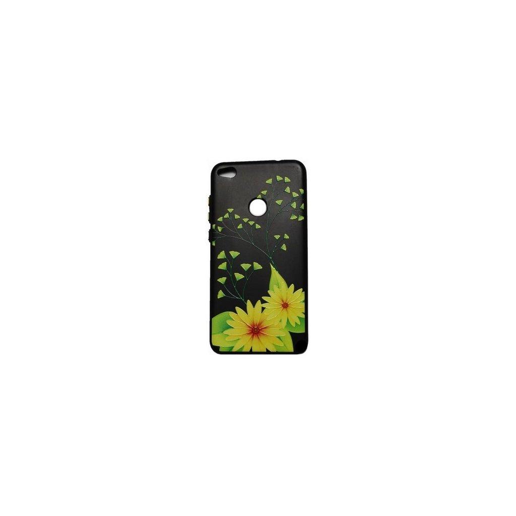 Zadný 3D silikónový kryt na Huawei P9 Lite 2017 Flowers 4