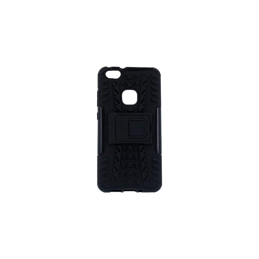 Zadný kryt na Huawei P10 Lite čierny so stojanom