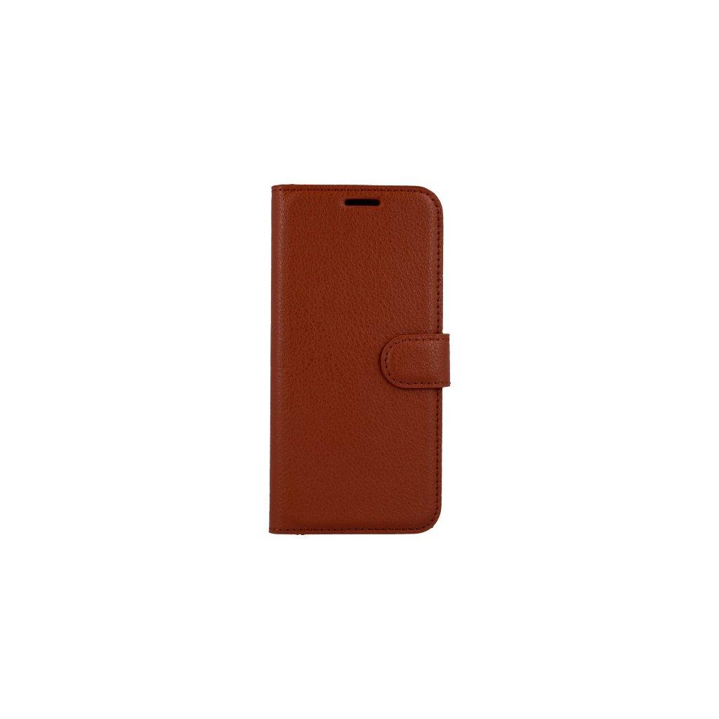 Flipové puzdro na Huawei P20 Lite hnedé s prackou
