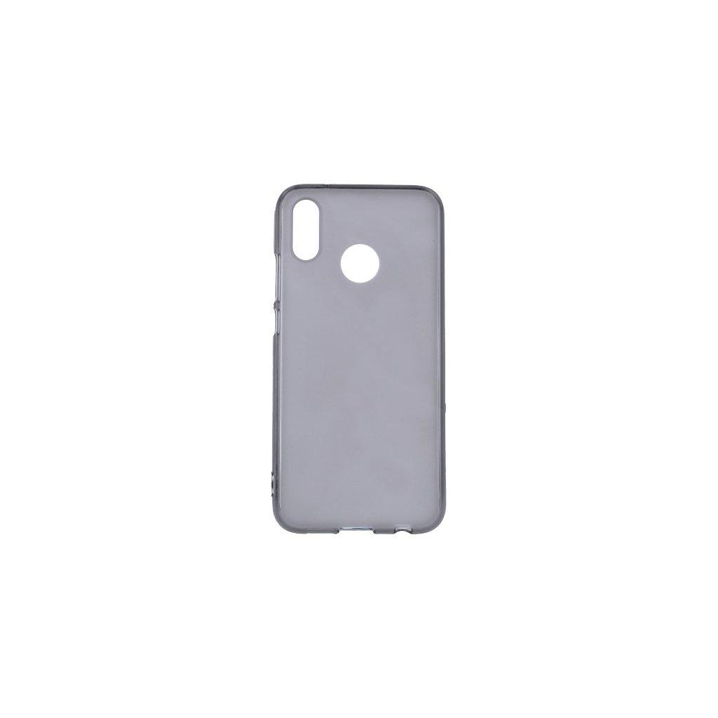 Zadný silikónový kryt na Huawei P20 Lite tmavý priehľadný