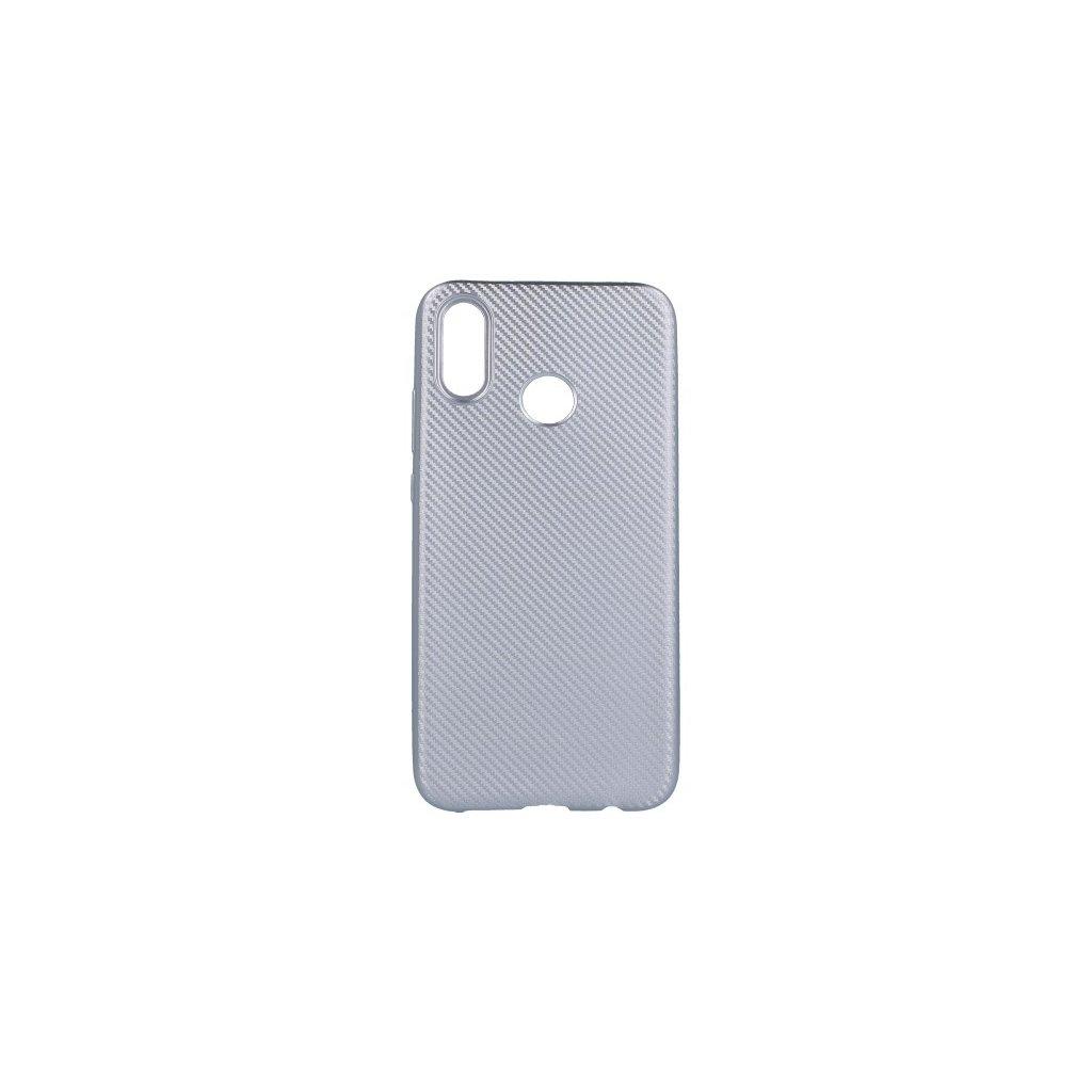 Zadný silikónový kryt na Huawei P20 Lite Carbon strieborný