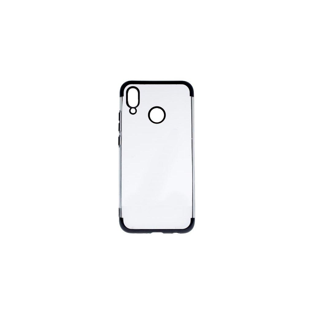 Zadný silikónový kryt na Huawei P20 Lite Frame čierny